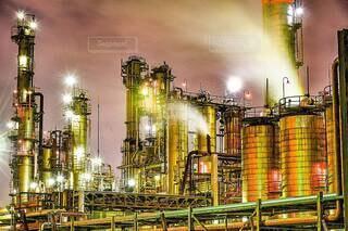 工場夜景の写真・画像素材[4066275]