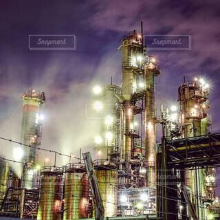 工場夜景の写真・画像素材[4066276]