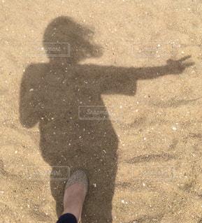 砂,ビーチ,足,影,浜辺,ピース,ジェスチャー