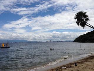 海,夏,海水浴,ビーチ,福岡,海水浴場,能古島
