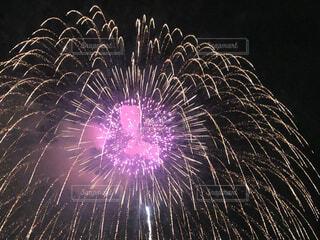 空の花火の写真・画像素材[3642287]