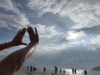 海と太陽の写真・画像素材[3630092]