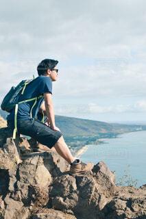 ピルボックスから海を見下ろしての写真・画像素材[4439705]