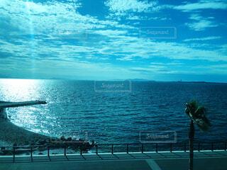 青の景色の写真・画像素材[3686424]