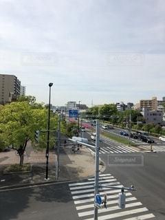 都市の空の通りの写真・画像素材[3635332]