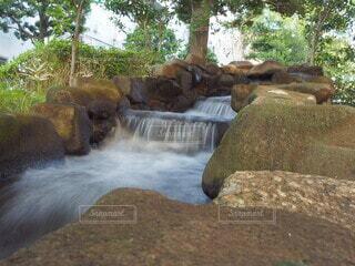 遊歩道にある川の写真・画像素材[3715709]