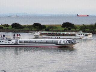 水上バスと屋形船の写真・画像素材[3794094]