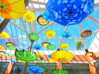 Floating umbrellasの写真・画像素材[3689161]