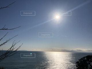 海,空,太陽,水面,光