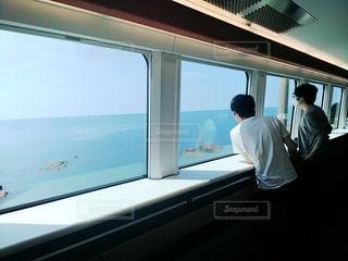 海里からの日本海の写真・画像素材[3639341]