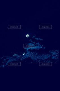 中秋の名月 丸亀城の写真・画像素材[3742021]