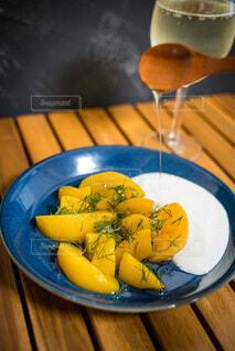 食べ物,屋内,テーブル,果物,皿,床,レモン,バナナ