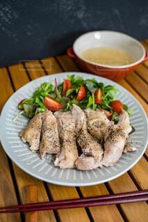 食べ物,テーブル,皿,焙煎,木目,アスパラガス,魚介類
