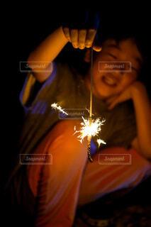 花火楽しいの写真・画像素材[3653218]