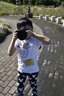 写真撮るよ〜の写真・画像素材[3728585]