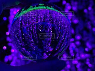 紫,暗い,景色,手持ち,イルミネーション,キラキラ,ポートレート,手元,レンズボール