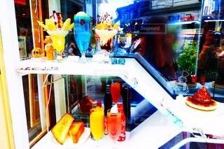 喫茶店のクリームソーダおいしそうの写真・画像素材[3659425]