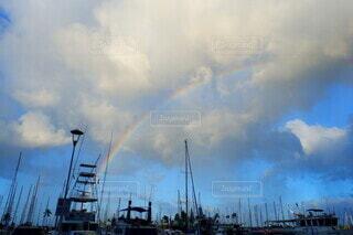 空の雲の群の写真・画像素材[3688886]