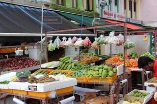 食べ物,風景,屋外,海外,果物,野菜,外国,市場,シンガポール,食品,マーケット,通り,食材,フレッシュ,ベジタブル,食料品店