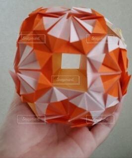 オレンジ,手持ち,人物,ポートレート,折り紙,クラフト,ライフスタイル,手元