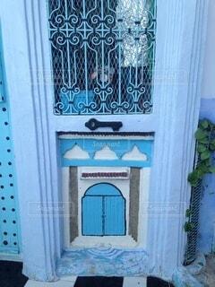 青い入口の写真・画像素材[3663924]