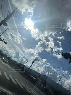 絵に描いたような空の写真・画像素材[3689380]