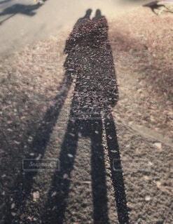 2人の影の写真・画像素材[3716421]