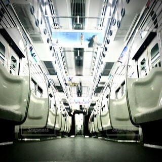 電車車内の写真・画像素材[3725576]