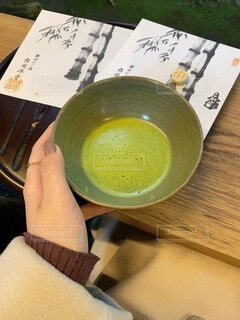 抹茶,手持ち,人物,日本,ポートレート,和,ライフスタイル,手元