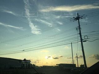 日没時の都市の眺めの写真・画像素材[3677855]