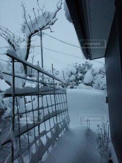 雪に覆われた建物の写真・画像素材[3678023]