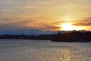 浜名湖の朝日の写真・画像素材[3681216]