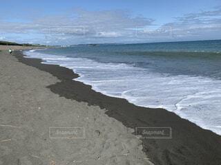 海の隣の砂浜の写真・画像素材[3678215]