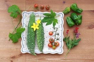 食べ物,野菜,食品,ピーマン,ゴーヤ,プチトマト,食材,フレッシュ,ベジタブル