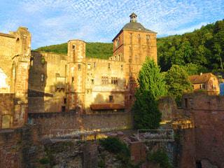 ヨーロッパの古城の写真・画像素材[3757058]