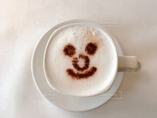 可愛い絵柄のカフェの写真・画像素材[3757748]