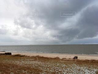 ヨーロッパの冬の海の写真・画像素材[3783871]