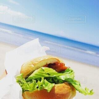 食べ物,風景,海,空,ビーチ,手持ち,サンドイッチ,ポートレート,ライフスタイル,ファストフード,手元