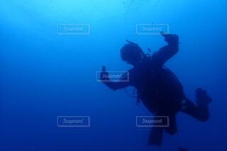 水中グッジョブの写真・画像素材[3690670]