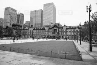 都市のレトロさと東京駅の写真・画像素材[3719398]
