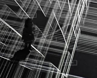 3D仮想空間に立っている女の子の写真・画像素材[834679]
