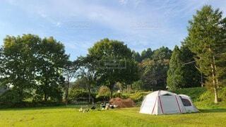 草原のテントの写真・画像素材[3716094]