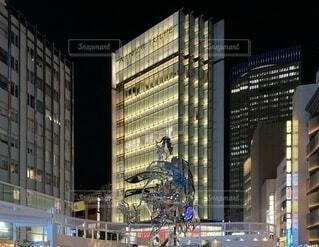 都市の高い建物の写真・画像素材[3716876]