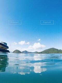 空と海の写真・画像素材[3791044]