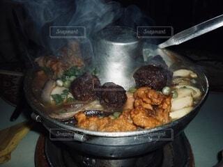 鍋料理のクローズアップの写真・画像素材[3966772]