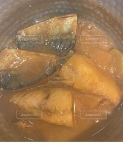 サバの味噌煮の写真・画像素材[3853651]