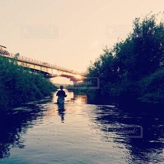 渓流釣りの写真・画像素材[3733221]