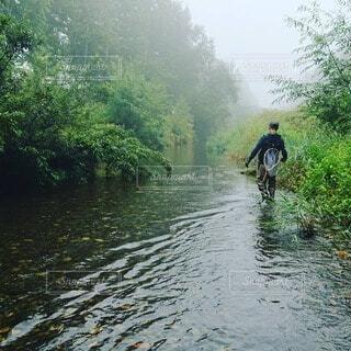 渓流釣りの写真・画像素材[3733222]