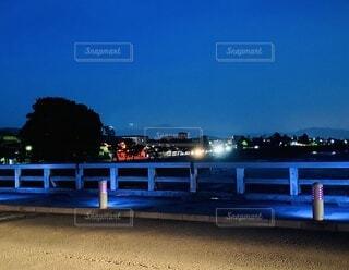 渡月橋の夜の写真・画像素材[3711913]