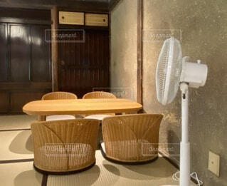 嵯峨野のカフェの写真・画像素材[3730948]